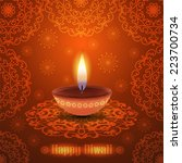 warm diwali background with... | Shutterstock .eps vector #223700734