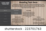 web page design vector template   Shutterstock .eps vector #223701763