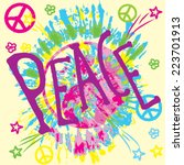 peace | Shutterstock .eps vector #223701913