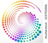 abstract colorful rainbow... | Shutterstock .eps vector #223702006