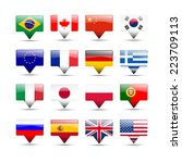 flags icons that speak | Shutterstock . vector #223709113