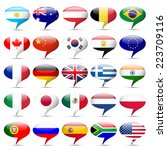 flags icons that speak | Shutterstock . vector #223709116