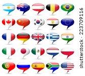 flags icons that speak | Shutterstock . vector #223709116