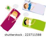 sleeping | Shutterstock .eps vector #223711588