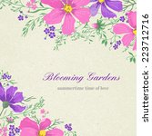 vector card with flowers on a... | Shutterstock .eps vector #223712716
