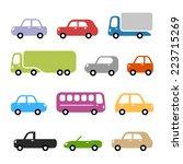 cars illustration   different... | Shutterstock .eps vector #223715269