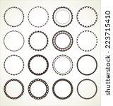 Set Of Vector Round Frames