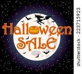 happy halloween sale shopping... | Shutterstock .eps vector #223715923