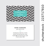 modern business card template   Shutterstock .eps vector #223717810