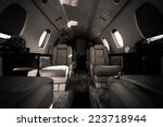 a luxury aircraft interior ...   Shutterstock . vector #223718944