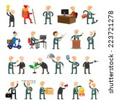 business peoples set of icons... | Shutterstock .eps vector #223721278