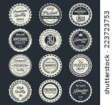 premium quality retro labels | Shutterstock .eps vector #223723753