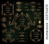 vector set  calligraphic design ... | Shutterstock .eps vector #223731670