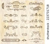 vector set of calligraphic... | Shutterstock .eps vector #223731718
