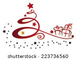 colorful christmas decoration ... | Shutterstock .eps vector #223736560