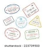 international business travel... | Shutterstock .eps vector #223739503