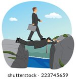 businessman is walking over the ... | Shutterstock .eps vector #223745659