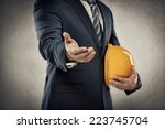 portrait of male architect with ... | Shutterstock . vector #223745704
