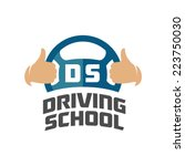 driving school logo template.... | Shutterstock .eps vector #223750030
