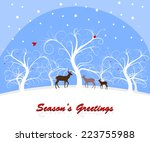 winter forest landscape with... | Shutterstock . vector #223755988