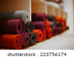 yoga mats in yoga club | Shutterstock . vector #223756174