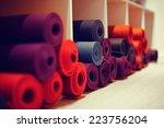 yoga mats in yoga club | Shutterstock . vector #223756204
