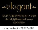 gold elegant font | Shutterstock .eps vector #223764280
