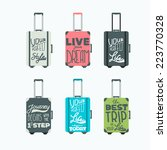 luggage icons. vector set | Shutterstock .eps vector #223770328