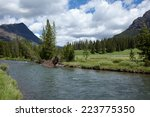 Soda Butte Creek flowing through Yellowstone National Park.