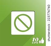 forbidden sign as a button.... | Shutterstock .eps vector #223776760