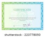 certificate. template diplomas  ... | Shutterstock .eps vector #223778050