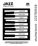 hipster black and white  jazz...   Shutterstock .eps vector #223783018