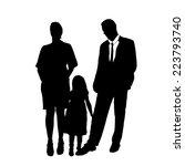 vector silhouette of family on... | Shutterstock .eps vector #223793740