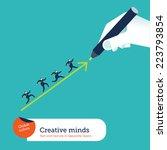 hand drawing an arrow. vector...   Shutterstock .eps vector #223793854