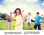 family spending quality time in ... | Shutterstock . vector #223795693