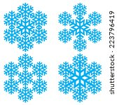 decorative abstract snowflake. | Shutterstock .eps vector #223796419