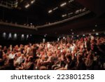 people during a show.... | Shutterstock . vector #223801258
