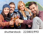 spending great time with... | Shutterstock . vector #223801993