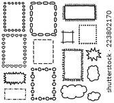 set of hand drawing frames. ... | Shutterstock .eps vector #223802170