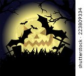 halloween party poster | Shutterstock . vector #223809334