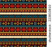 tribal art ethnic seamless... | Shutterstock . vector #223810810