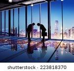 japanese businessmen having a... | Shutterstock . vector #223818370