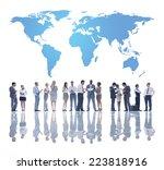 the global team development | Shutterstock . vector #223818916