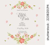 wedding invitation | Shutterstock .eps vector #223820194