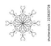 snowflake vectors. design...   Shutterstock .eps vector #223820728
