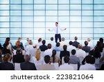 businessman giving presentation ...   Shutterstock . vector #223821064
