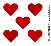 icons of hearts in different... | Shutterstock .eps vector #223823230