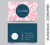 business card template ... | Shutterstock .eps vector #223823980