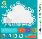 green eco cloud placard with...