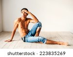 deep in his thoughts. handsome... | Shutterstock . vector #223835269